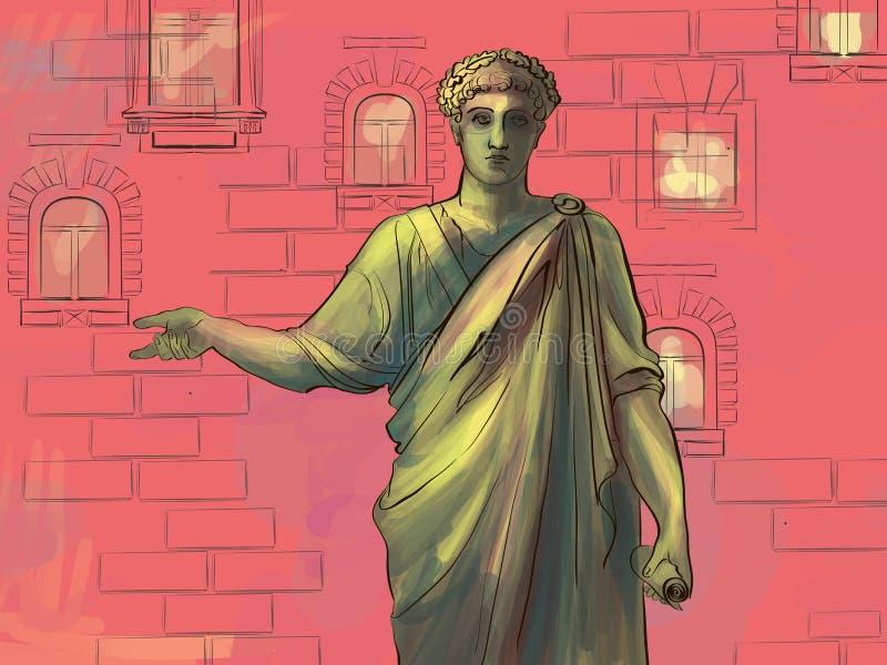 对de Richelieu公爵的一座纪念碑在傲德萨 皇族释放例证