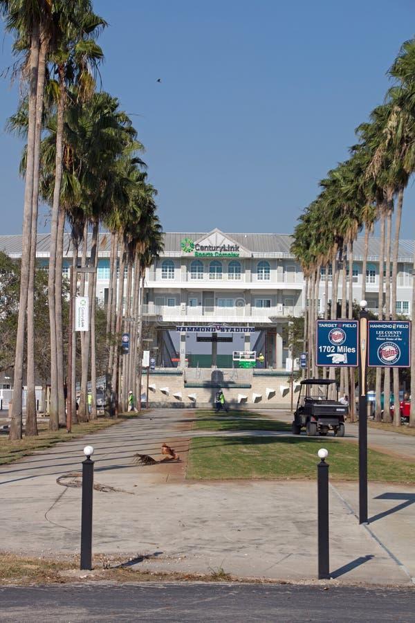 对Hammond体育场的新的入口 图库摄影