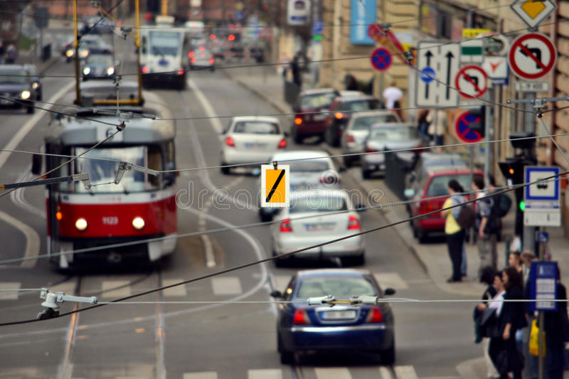 交通在布尔诺 免版税库存照片