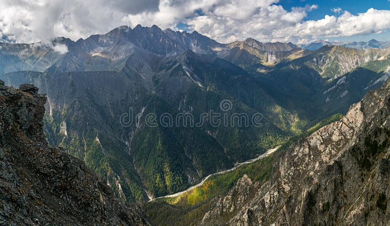 对Kyngarga河谷的看法  库存照片
