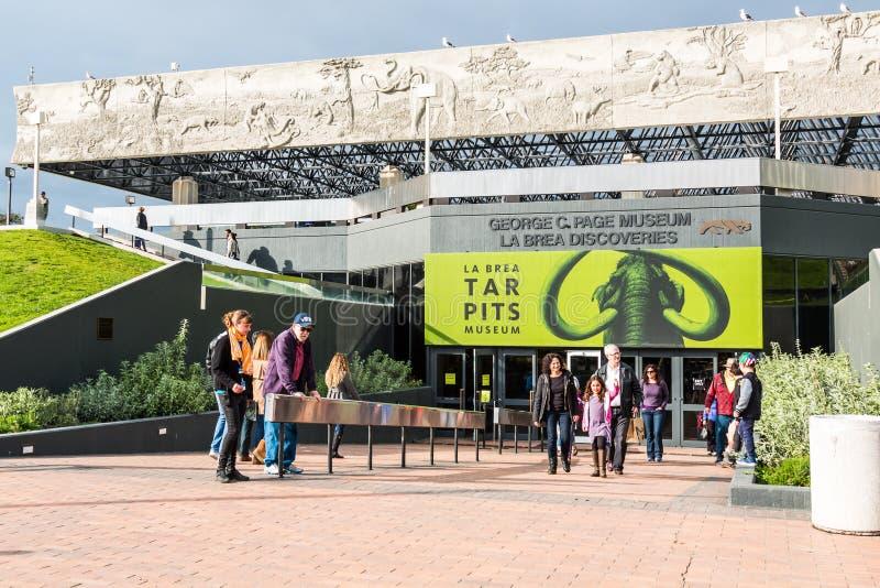 对La Brea焦油坑博物馆的入口 免版税图库摄影