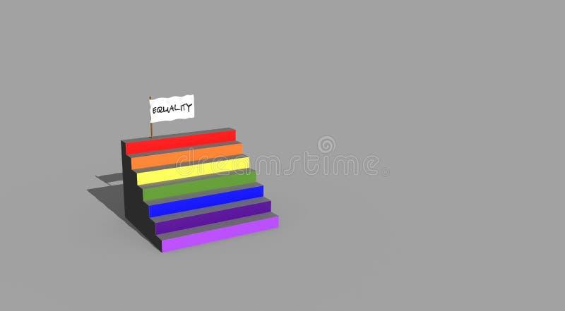 对LGTBI平等的台阶 库存例证