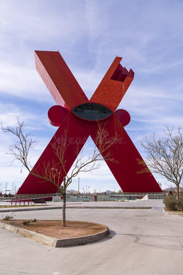 对Mexicanness的纪念碑,共同地叫X 免版税库存照片