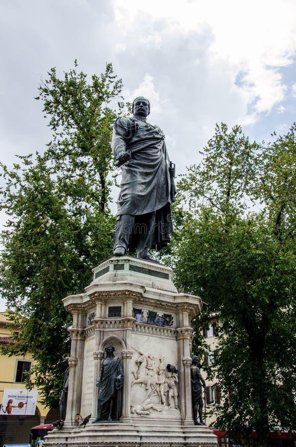 对Risorgimento曼弗雷多反对论者的英雄的纪念碑,佛罗伦萨 库存照片