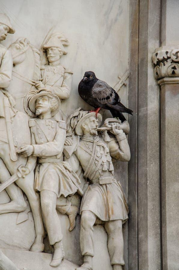 对Risorgimento曼弗雷多反对论者的英雄的纪念碑,佛罗伦萨 库存图片
