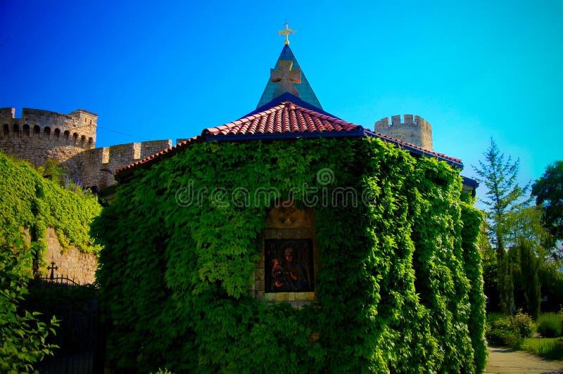 对Ruzica教会的外视图在Belgrad,塞尔维亚 库存照片