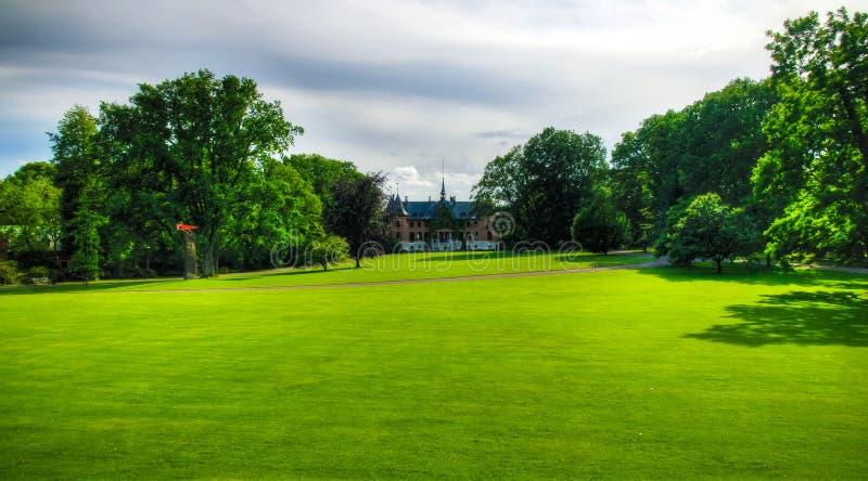 对Sofiero宫殿,赫尔辛堡,瑞典的外视图 免版税库存图片