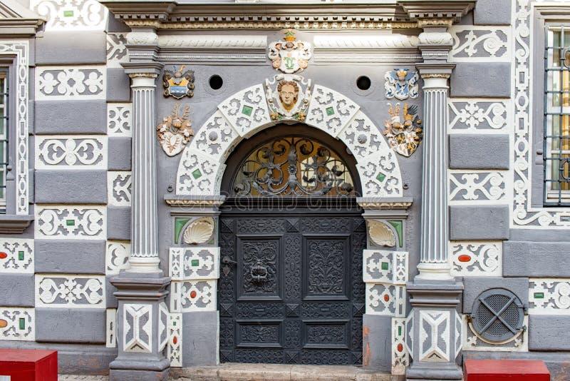 对Stadtmuseum的入口在埃福特 库存图片