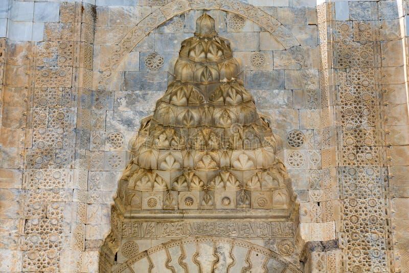对Sultanhani商队投宿的旅舍的入口在丝绸之路 免版税图库摄影