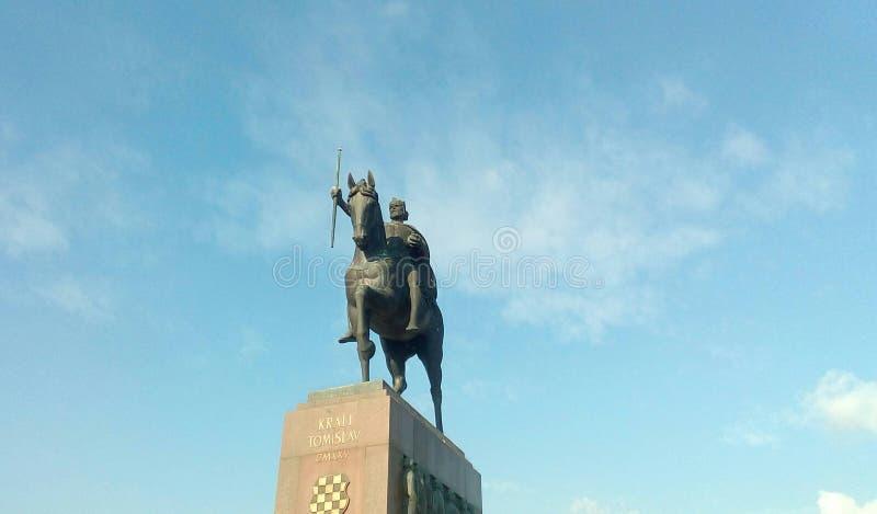 对Tomislav国王的纪念碑 免版税库存图片