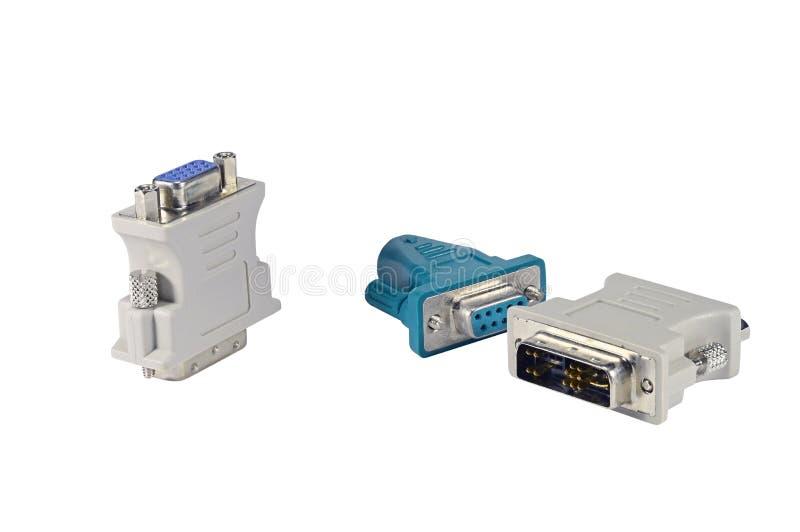 对VGA适配器的DVI 图库摄影