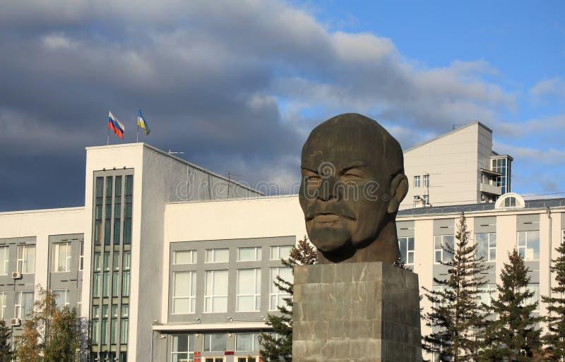 对vladimir的列宁纪念碑 免版税库存图片