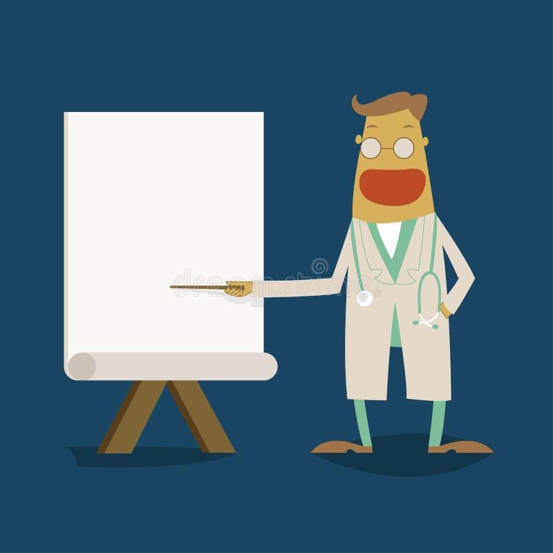 对whiteboard的医生点 皇族释放例证