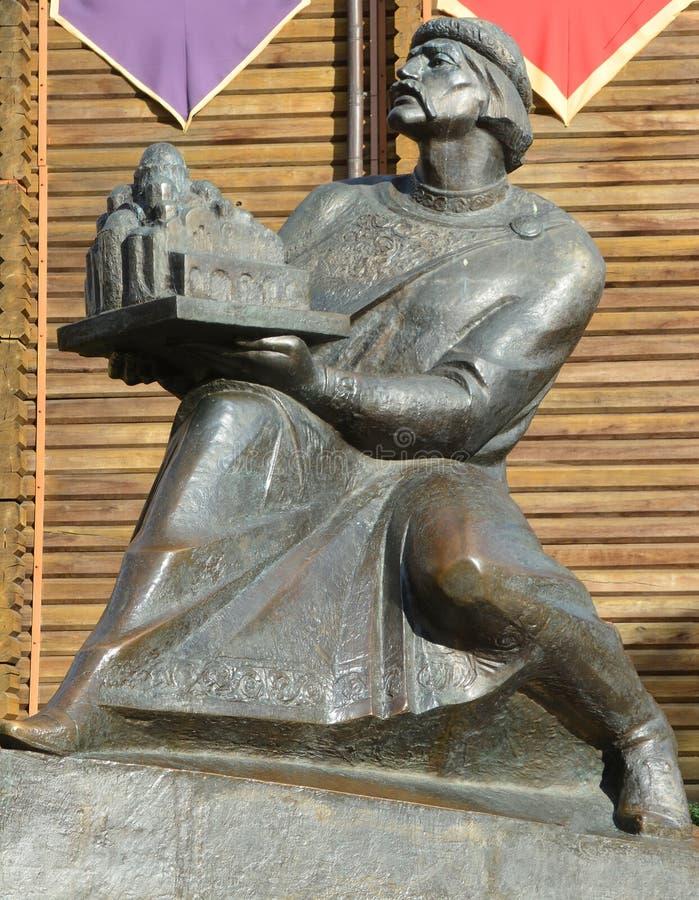 对Yaroslav Mudry的纪念碑, 库存图片