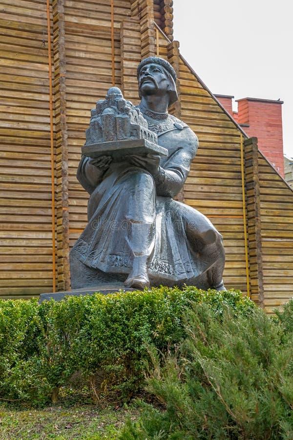 对Yaroslav Mudry的纪念碑 图库摄影