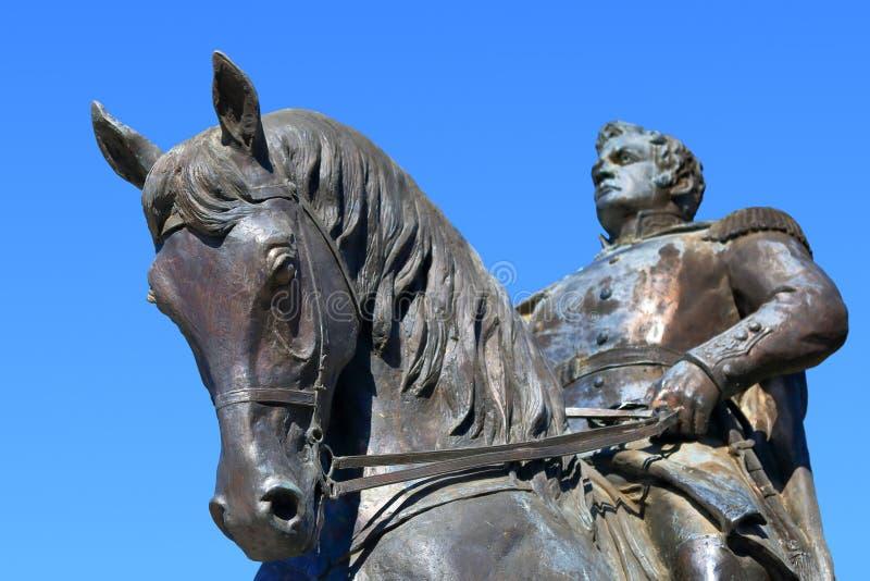 对Yermolov将军的骑马纪念碑在Pyatigorsk,俄罗斯 免版税库存图片