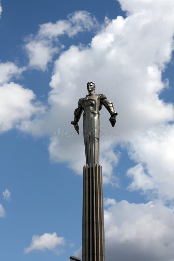 对yuri的加加林纪念碑 免版税库存图片