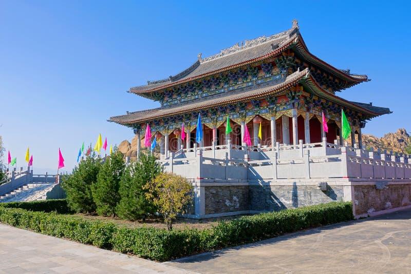 寺庙主要大厅 免版税图库摄影