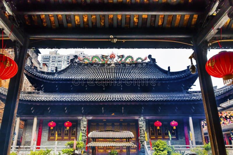 寺庙六榕树佛教寺庙广州关东中国 免版税库存照片