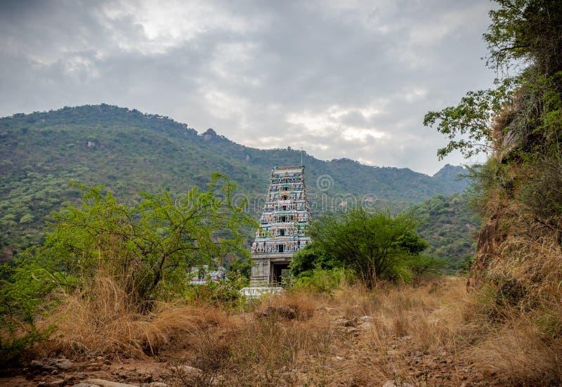 寺庙印度marudhamalai哥印拜陀视图 免版税库存图片