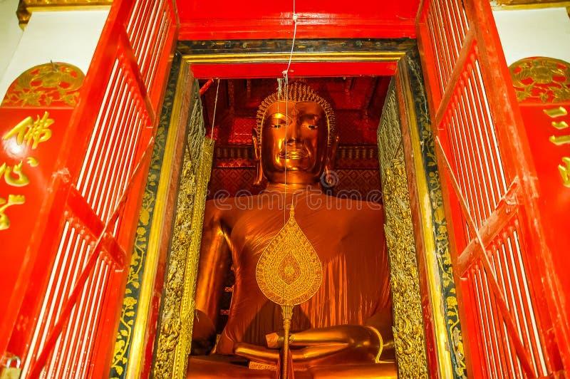 寺庙名字Wat Mahathat,老镇在阿尤特拉利夫雷斯,泰国 库存照片