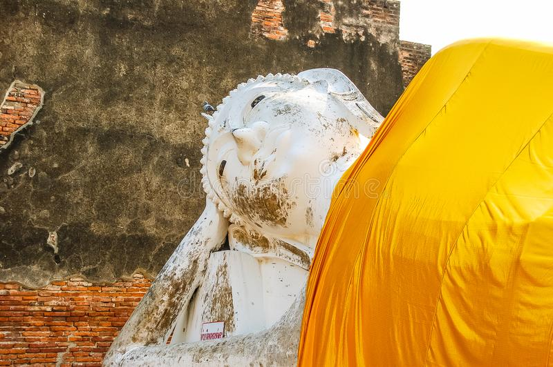 寺庙名字Wat Mahathat,老镇在阿尤特拉利夫雷斯,泰国 免版税库存图片