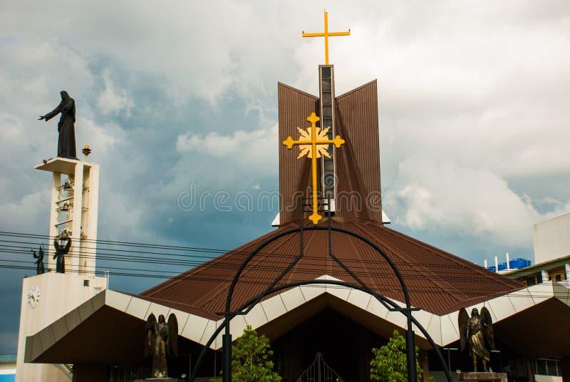 寺庙四埔沙捞越,马来西亚 免版税图库摄影
