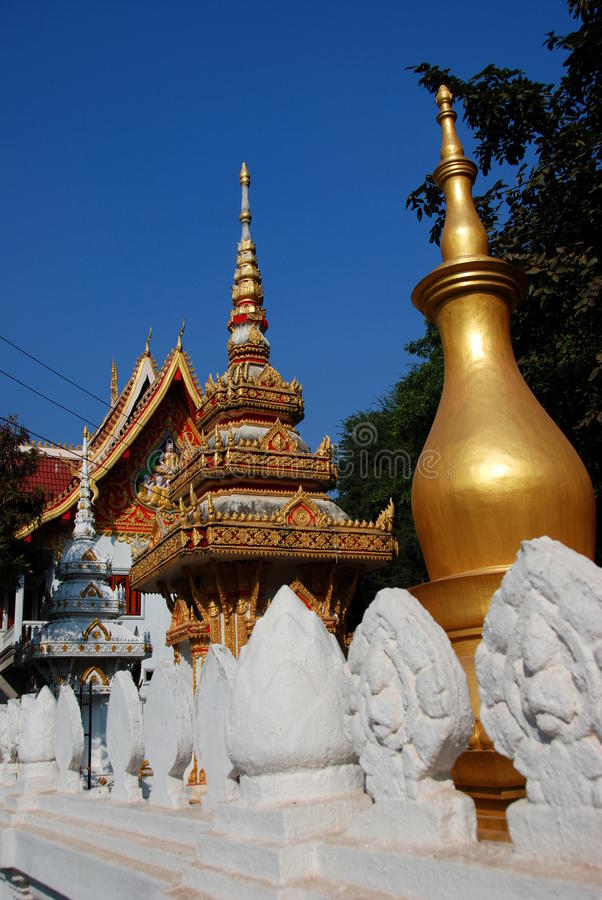 寺庙在万象老挝 库存图片