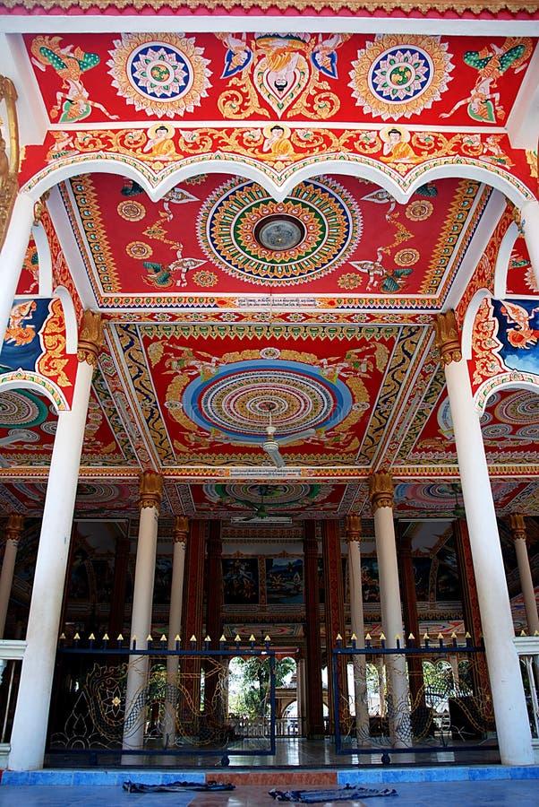 寺庙在万象老挝 免版税库存照片