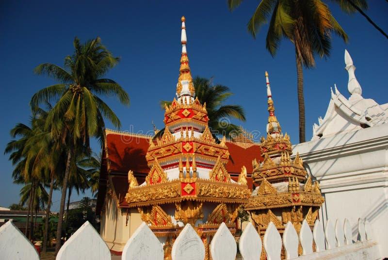 寺庙在万象老挝 免版税库存图片