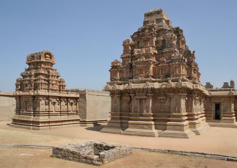 寺庙在亨比, India4 库存图片