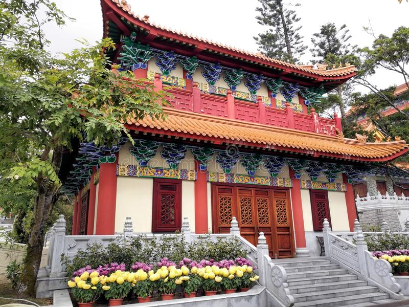 寺庙在宝莲寺香港 免版税库存图片