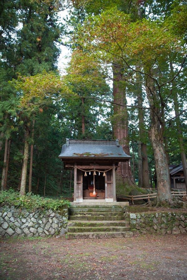 寺庙在山梨 免版税库存图片