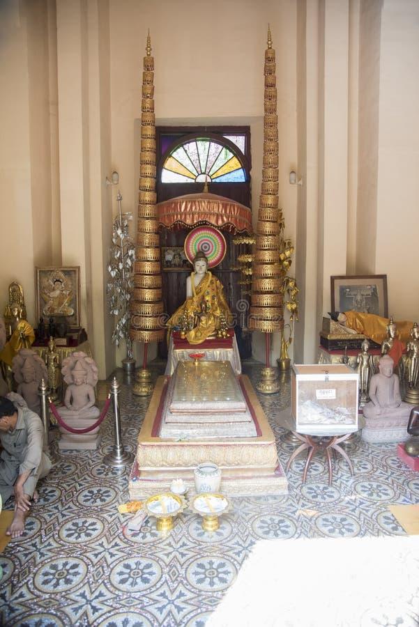 寺庙在王宫金边柬埔寨 免版税库存图片