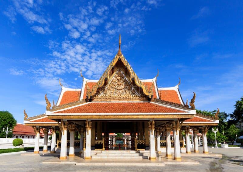 寺庙在纪念公园,曼谷泰国 免版税库存照片