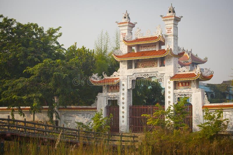 寺庙在蓝毗尼 库存图片