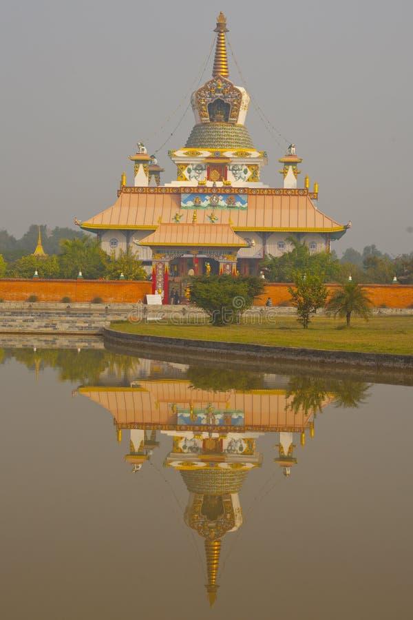 寺庙在蓝毗尼 免版税库存照片