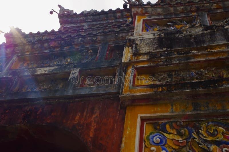 寺庙在西贡 免版税库存照片