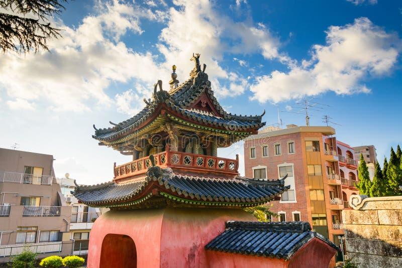寺庙在长崎 免版税库存照片