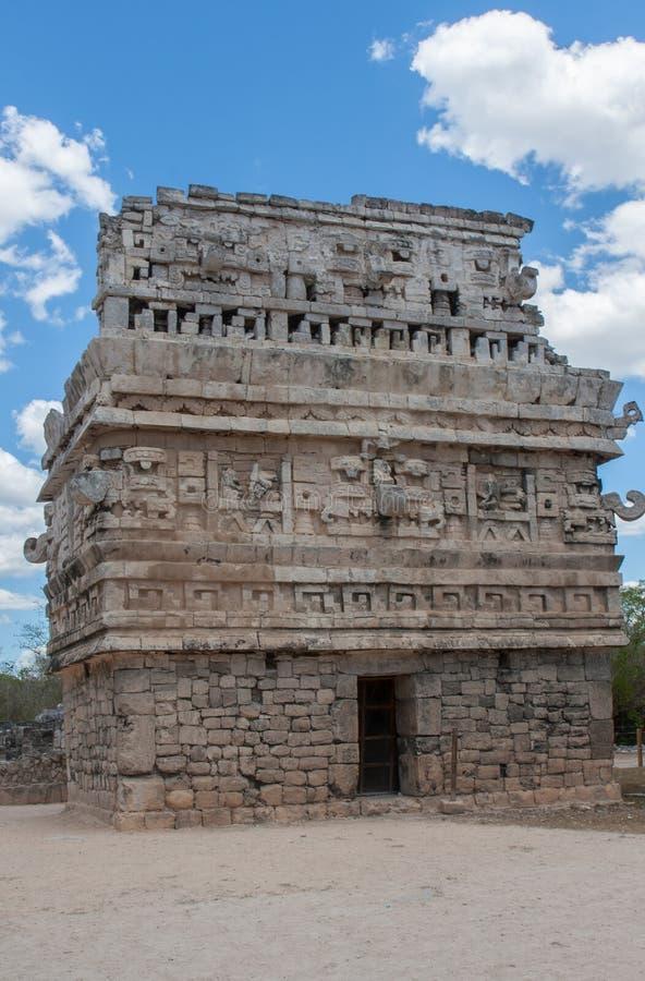 寺庙在Chitchen Itza 免版税库存图片