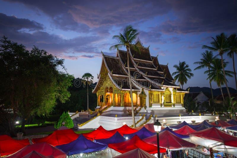 寺庙在Luangprabang 免版税库存图片