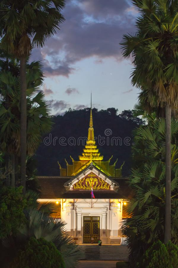 寺庙在Luangprabang 图库摄影