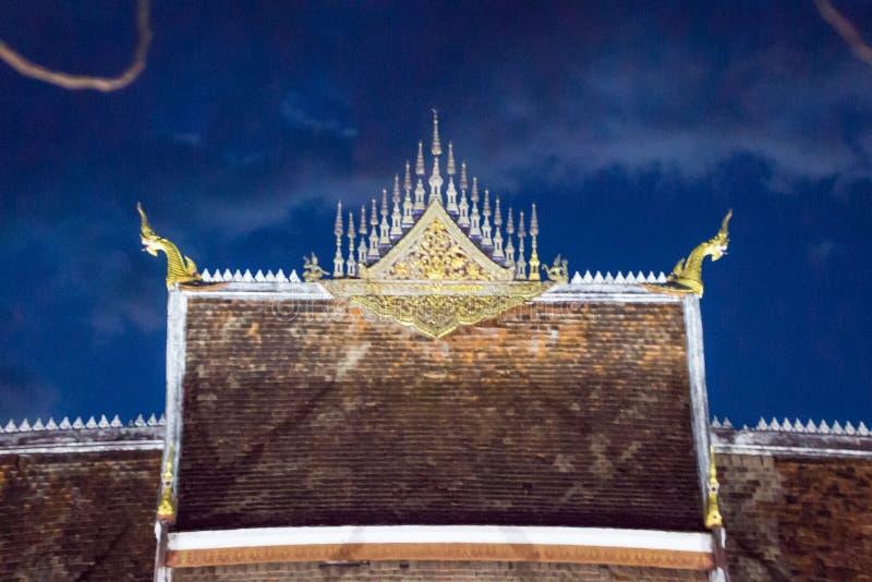 寺庙在Luangprabang 免版税库存照片
