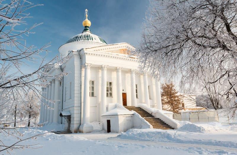 寺庙在Yaroslavl。 俄国 库存照片
