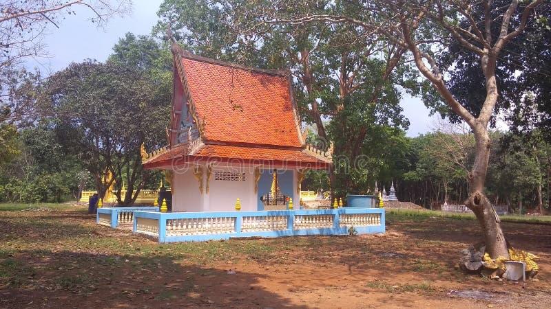 寺庙复合体的泰国房子 库存图片