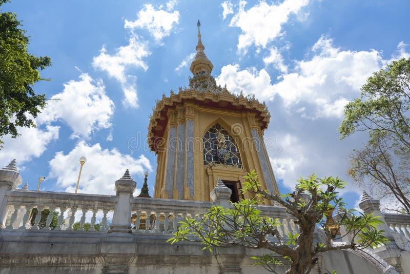 寺庙复杂Wat严的中央零件 离芭达亚不远 泰国 2019年3月 免版税图库摄影