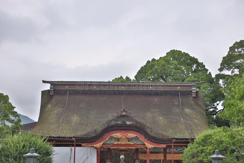 寺庙屋顶在九州, Dazaifu Tenmangu 图库摄影