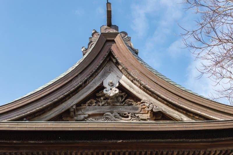 寺庙屋顶细节 库存图片