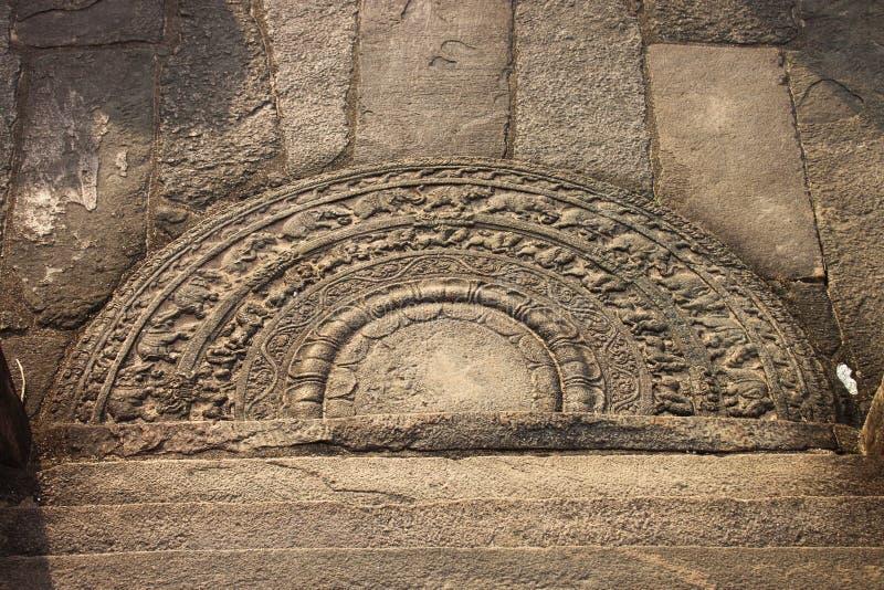 寺庙废墟步石头  免版税库存照片