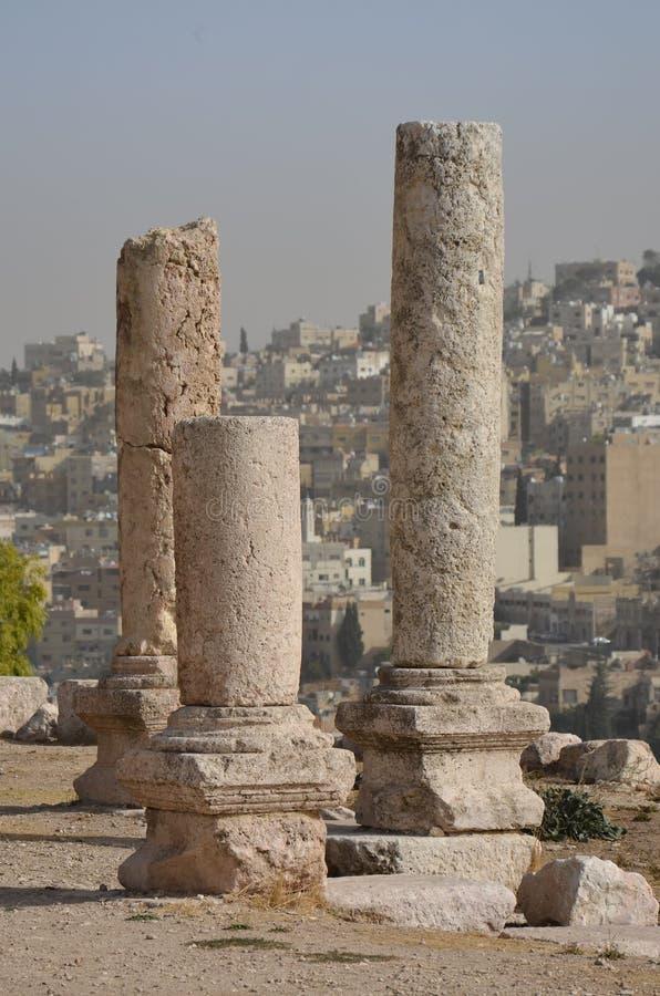 寺庙废墟,阿曼 免版税库存照片